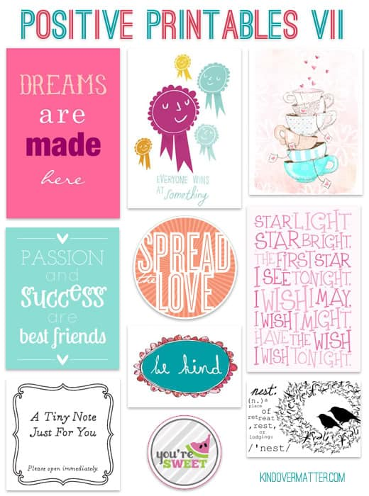 a nice thing to do   positive printables vii