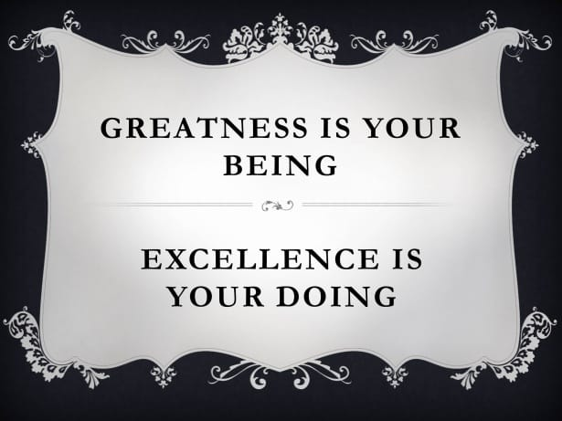 excellence over perfection
